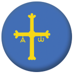 Asturias Flag 25mm Flat Back.